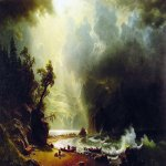 Albert Bierstadt (1830-1902)  Puget Sound on the Pacific Coast  Oil on canvas, 1870  52 1/2 x 82 inches (133.4 x 208.3 cm)  Private collection